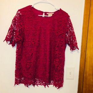 NWT Philosophy Magenta Lace Blouse size L